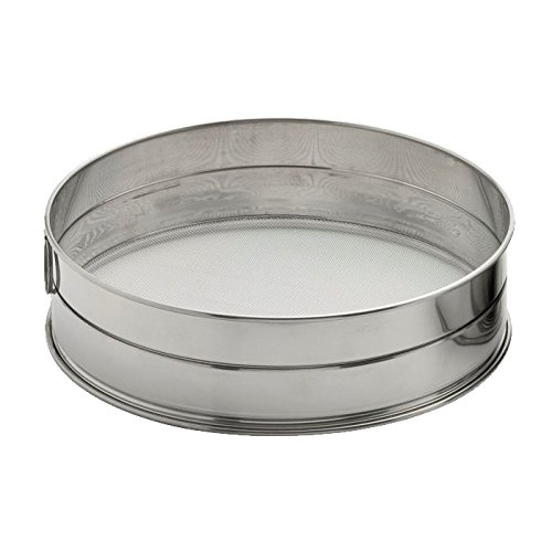 diametro 26/cm Weis 12926/setaccio per farina 26/x 26/x 8/cm Acciaio Inox Argento
