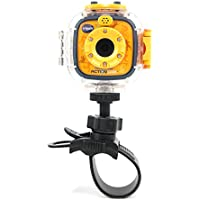 Tough AVS Plastic Bike Handlebar Mount With Handy Swivel Mechanism Compatible With vTech Kidizoom Action Cam - by DURAGADGET