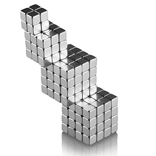 Weyba Magnet Blocks Magnetic Magic Cube Multi-use Toy Puzzle Magnets Education Toys Metal Office Decoration (Set of 216 pcs) 0.12″