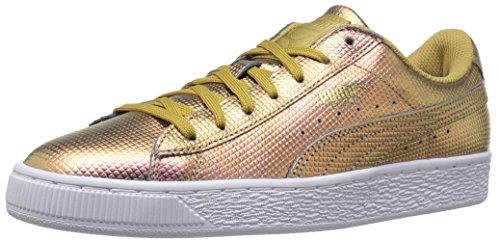 PUMA Men Basket Classic Holographic Fashion Sneaker Gold