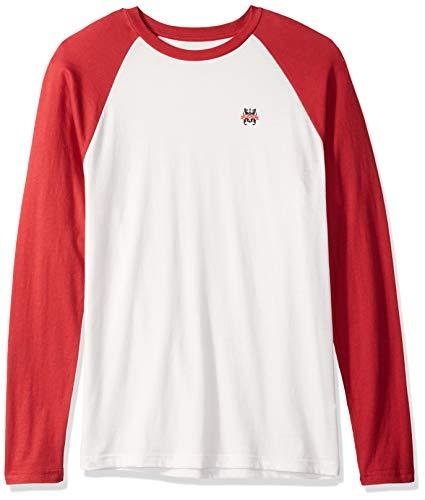 RVCA Mens Chest Crest Long Sleeve Baseball T-Shirt