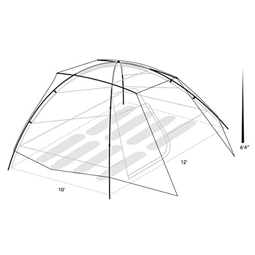 Eureka! Tetragon HD 8-Person, 3-Season Waterproof Camping Tent, Java/Cement (18 Pounds 14 Ounces)