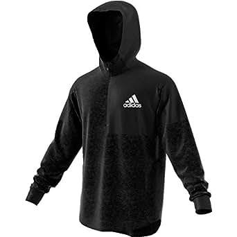 Adidas Men's Team Issue Hoodie Hoodies, Black & White, Medium