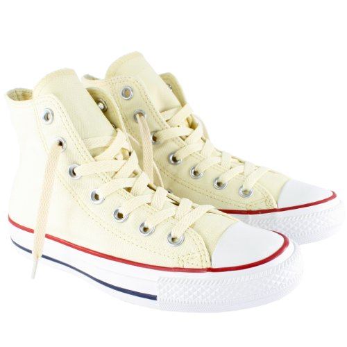 Converse Womens All Star Hi High Top Chuck Taylor Chucks Trainers - Optical White - 5 Converse Chucks Hi