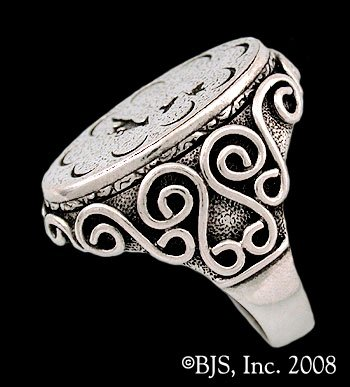 Sterling Silver Mat Cauthon's ™ Signet Ring Officially Licensed Robert Jordan Wheel of Time ® Jewelry by Raven Blackwood