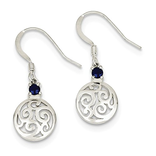 ICE CARATS 925 Sterling Silver Blue Iolite Round Filigree Drop Dangle Chandelier Earrings Fine Jewelry Ideal Gifts For Women Gift Set From ()