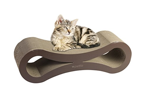 Jumbo Cat Scratching Cardboard Lounge - Durable Reversible Pet Scratch Pad and Sofa - By Petlo