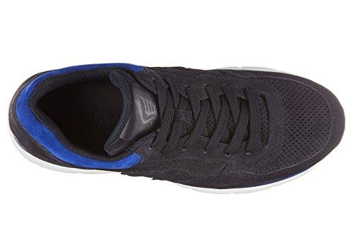 Hogan Zapatos Zapatillas de Deporte Hombres EN Ante Nuevo h3d Forato Blu