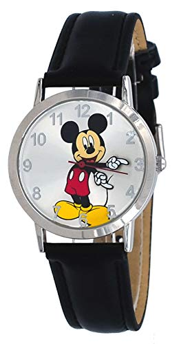 Disney MCKAQ16003 Unisex Classic Mickey Mouse Black Band Analog Watch ()