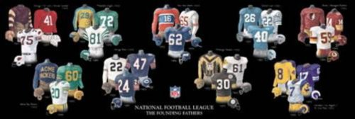 (The Greatest-Scapes Framed and Matted History NFL Uniforms of Oldest Franchises Print)