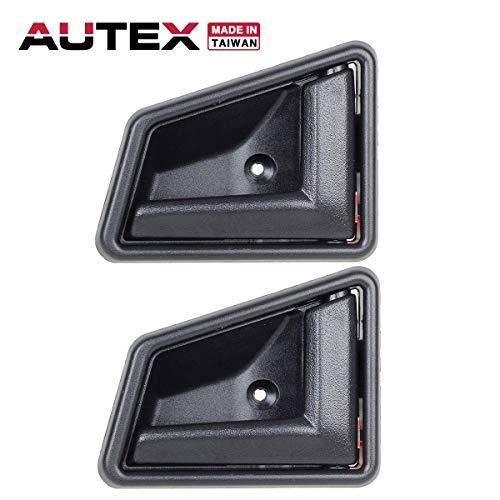 AUTEX Black Interior Front/Rear Right Door Handle Passenger Side Compatible with Suzuki Sidekick 1989-1998 Replacement for Geo Tracker 96 97,Chevrolet Tracker 98 8311056B015ES