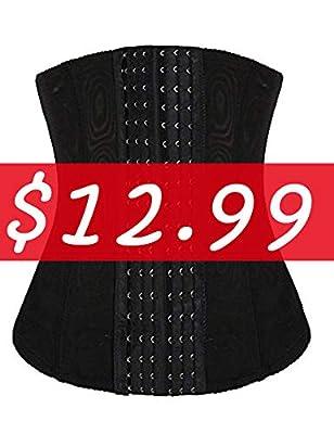luxilooks Waist Trainer Women's Tummy Tucker Steel Boned Corset Plus Size Waist Nipper Shapewear