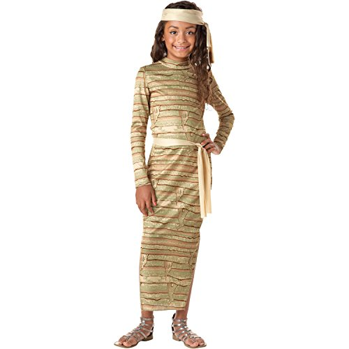 Girls Mummy Costume (Meduim 8-10) (Kids Mummy Costumes)