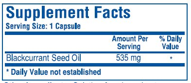 Biotics Research Blackcurrant Seed Oil -- 60 Capsules