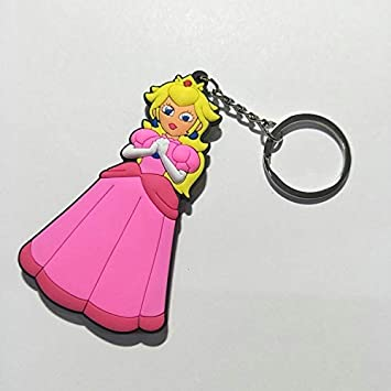 TUDUDU Juego Super Mario Bros Cosplay PVC Llavero Princesa ...