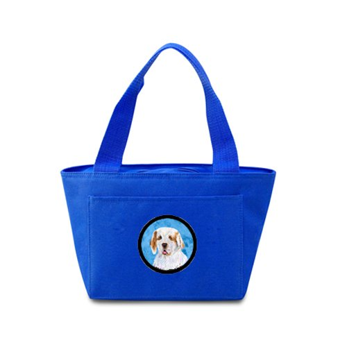 Caroline's Treasures SS4776-BU Clumber Spaniel Lunch or Doggie Bag, Large, Blue
