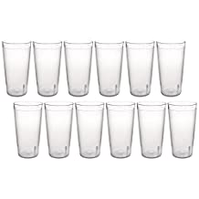 New Star Break Resistant Restaurant Stackable Tumblers, 20-Ounce, Clear, Set of 12