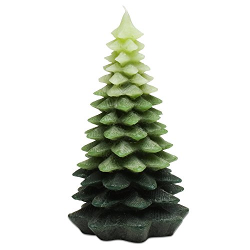 (tag Christmas Evergreen Tree Large Candle)
