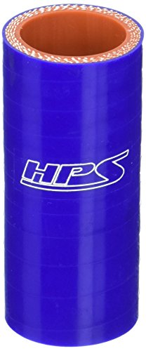 HPS HTSC-100-BLUE Silicone High Temperature 4-ply Reinforced Straight Coupler Hose, 100 PSI Maximum Pressure, 3