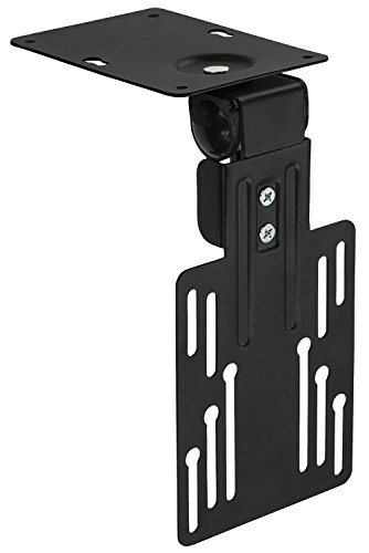 Mount-It! MI-LCDCM Kitchen Under Cabinet Mount TV Ceiling Mount Folding Bracket, 90 Degree Tilt, Fold Down, Swivel for 13 to 23 inch LCD, TV, LED, Monitor, Flat Screens up to - Mount Under Cabinet Lcd