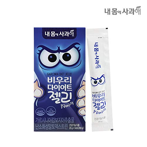 [Dr. MOON] Garcinia Diet Jelly-Blueberry Flavor(20g x 14 Packets) - A Healthy Diet, Natural Weight Loss Diet Supplement, Fast Acting Appetite Suppressant, Garcinia Cambogia