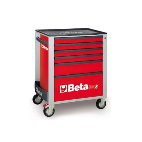 C24S 5/R-MOBILE ROLLER CAB 5 DRAWERS RED by Beta Tools