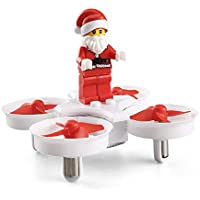 Owill JJRC H67 2.4GHz Headless Mode Mini Santa Claus RC Quadcopter With LED Music/ Best Gift for Kids (White)