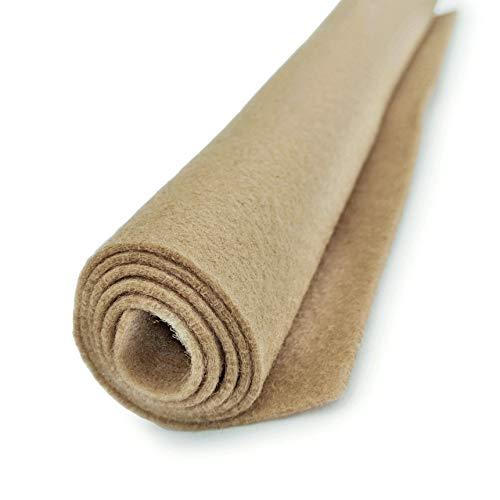 (Vanilla Latte (Creamy Tan-Brown) - Wool Felt Oversized Sheet - 20% Wool Blend - 1 12x18 inch Sheet)