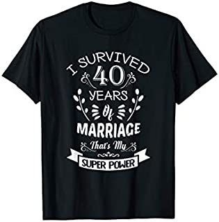 [Featured] I Survived 40 Years Of Marriage Wedding Gift - Husband Wife in ALL styles | Size S - 5XL