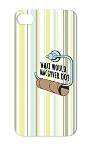 Shock-absorbent Satire Macgyver What Would Funny Do Brown What Would Macgyver Do Blk Txt For Iphone 5 Protective Hard Case