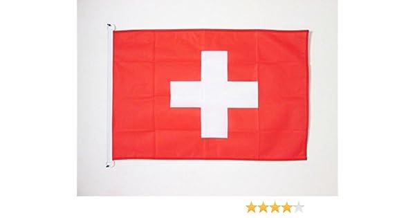 AZ FLAG Bandera de Suiza 90x60cm Uso Exterior - Bandera Suiza 60 x 90 cm Anillos: Amazon.es: Jardín