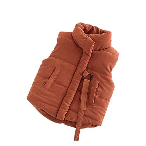 zhbotaolang Thick Cotton Vest Clothes Sleeveless Unisex Jackets(Caramel 100cm)