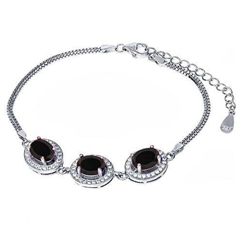 Oval Black Onyx Stone Bracelet - 9