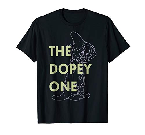 - Disney Snow White The Dopey One Outlined Graphic T-Shirt