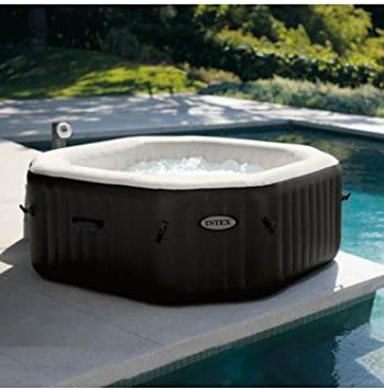 INTEX SPA Hinchable Pure SPA chorros y Burbujas 6 plazas Octogonal ...