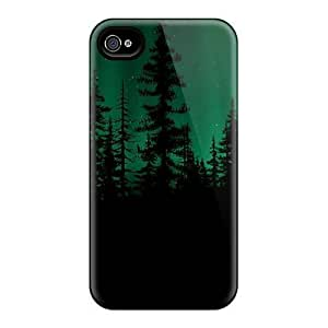 Durable Defender Cases For Iphone 6 Covers(aurora Over A Dark Forest)