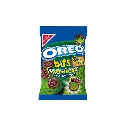 YAMAZAKI NABISCO OREO Bits Sandwiches Strong Japanese Green Tea (Kyoto Uji Matcha) Rich Cream 60g x 3 Packs