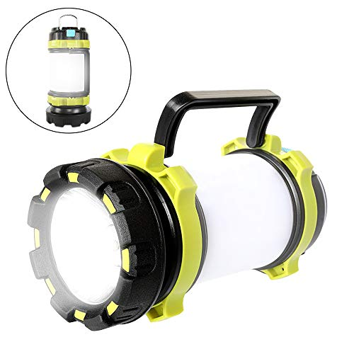 Alpswolf Rechargeable Camping Lantern Flashlight, 800 Lumens, 4 Lighting Modes, 4000mAh PowerCore, IPX4 Waterproof, Portable for Emergency, Perfect for Camping, Hiking, Outdoor Recreations