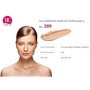 DC Dermacol High Covering Waterproof Foundation SPF 30 Make-up Cover (Light Beige Peach 209) -30 g