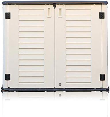 蓋防水、サンスクリーン収納ボックスガーデン屋外多機能収納ボックスガーデン家具、折りたたみ式大容量ストレージバルコニーロッカーサンドリーズキャビネット付きガーデン収納ボックス