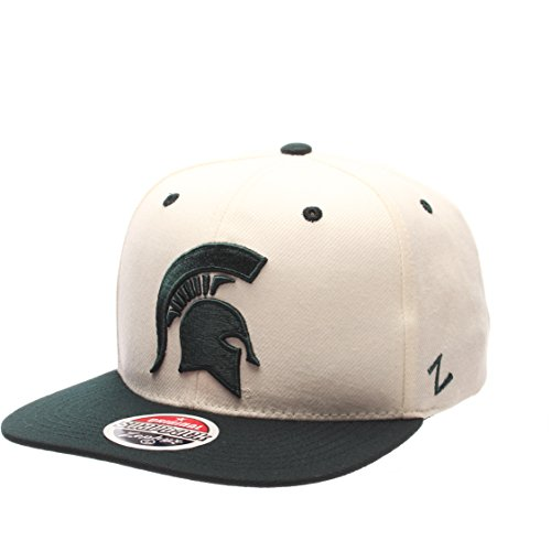 Charcoal Zephyr NCAA Michigan State Spartans Mens Stateline Snapback Cap Adjustable Size