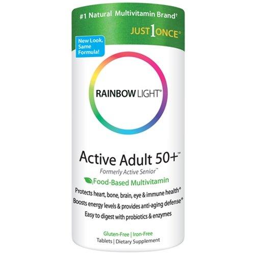 Радужного света активного взрослого 50+ Мультивитаминный 50ct (комплект из 2)