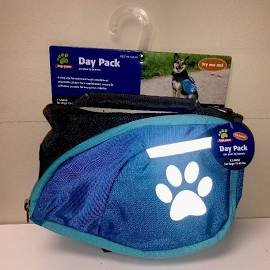 TOP PAW Reflective Blue Dog Backpack ~MEDIUM~