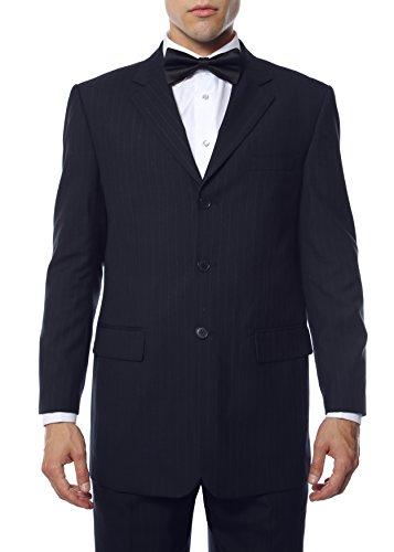 52L Hallmark Mens Navy Pin Wool Blend Blazer -