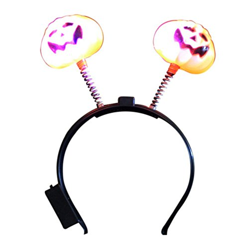 Freddy Krueger Teen Hat (Smartcoco LED Pumpkin Light Head Buckle Halloween Decoration For Children Adults Masquerade Headwear Prop)