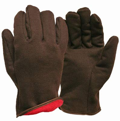 (Big Time Products 9927-26 Jersey Winter Work Gloves, Brown Fleece Lined, Men's L - Quantity 1 )