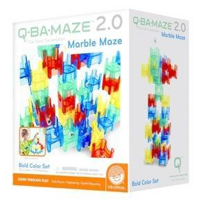 Mindware Q-BA-MAZE 2.0 The Next Generation Marble Maze Bold Color Set