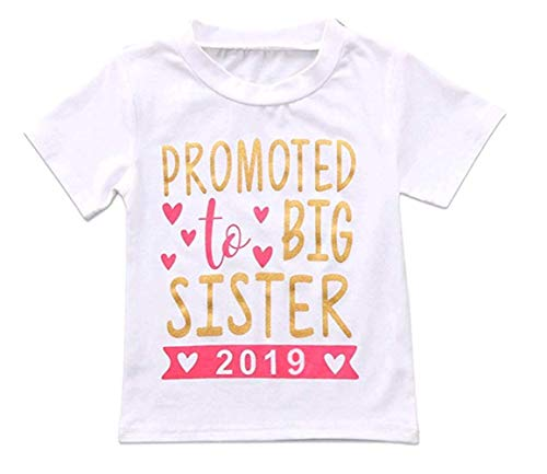 Shirt Sister Toddler Big - 2018 Baby Girl Clothes Outfit Big Sister Letter Print T-Shirt Top Blouse Shirts (White02, 1-2 Years)