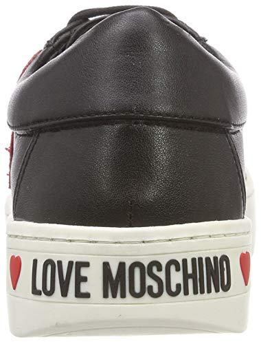 Para Moschino Negro Zapatillas nappato gomma35 nero 000 Vit Scarpad Mujer Love AdqwfYw
