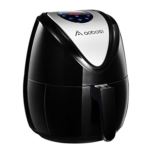Aobosi Digital Air Fryer Oil with Hot Airfryer Multifunctional Air Cooke and  Recipe Cookbook - Black